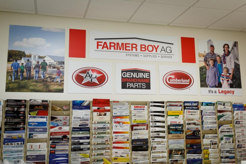 Rosewood designed these store signs for Farmer Boy Ag.