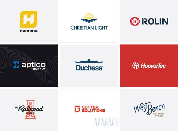 9 logos by Lyndon Gehman